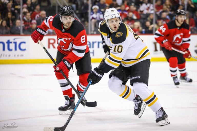 Anders Bjork Boston Boston Will Butcher New Jersey Devils