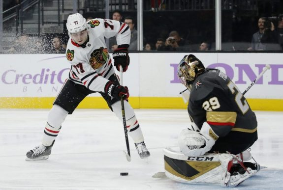 Chicago Blackhawks Kirby Dach Vegas Golden Knights Marc-Andre Fleury