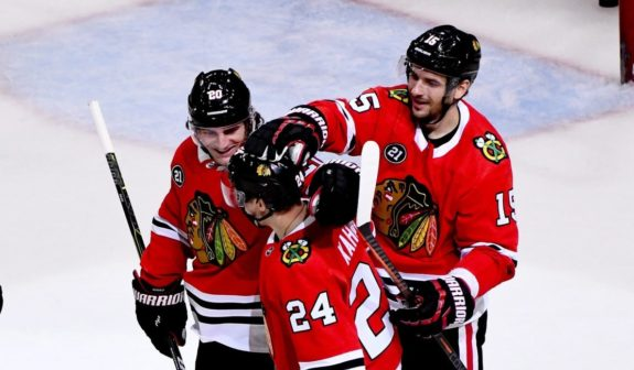Chicago Blackhawks Dominik Kahun Brandon Saad Artem Anisimov
