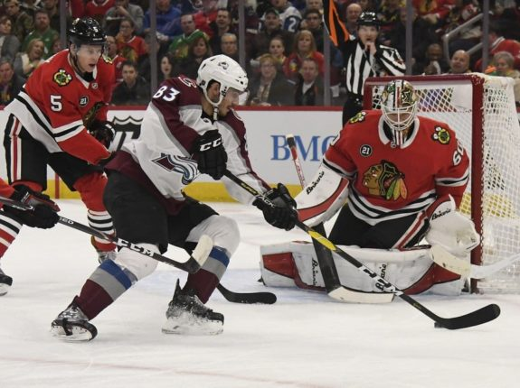 Colorado Avalanche Matt Nieto Chicago Blackhawks Collin Delia