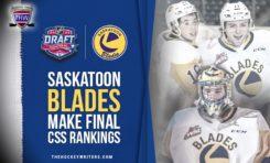 5 Saskatoon Blades Make Cut in NHL Central Scouting Draft Rankings