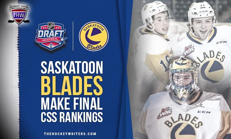 5 Saskatoon Blades Make Cut in NHL Central Scouting Draft Rankings Tristen Robins, Rhett Rhinehart, Kyle Crnkovic, Koen MacInnes, Aidan De La Gorgendiere