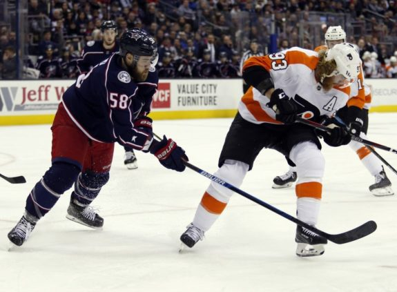 Philadelphia Flyers Jakub Voracek Columbus Blue Jackets David Savard