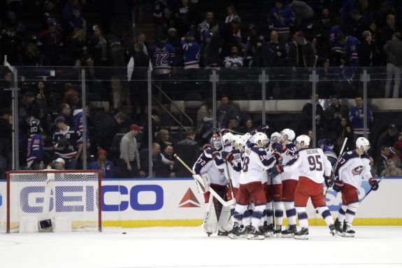 Columbus Blue Jackets celebrate