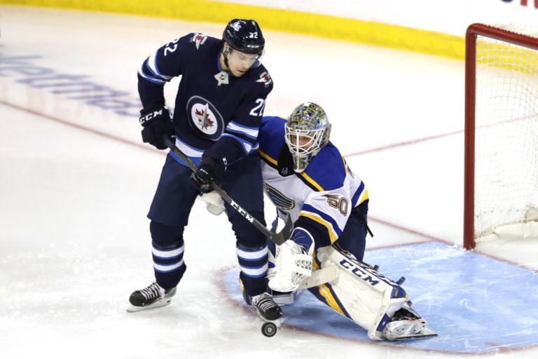 St. Louis Blues Jordan Binnington Winnipeg Jets Par Lindholm