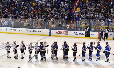 Blues Going Old School for Winter Classic