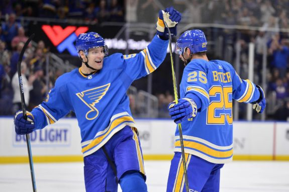St. Louis Blues Chris Butler and Colton Parayko