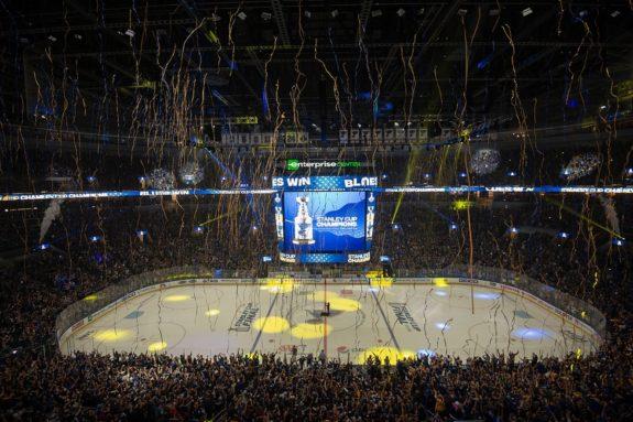 St. Louis Blues fans Stanley Cup Enterprise Center