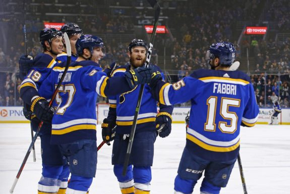 St. Louis Blues celebrate