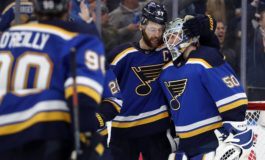 Blues Squeak by Sharks to Tie the Series