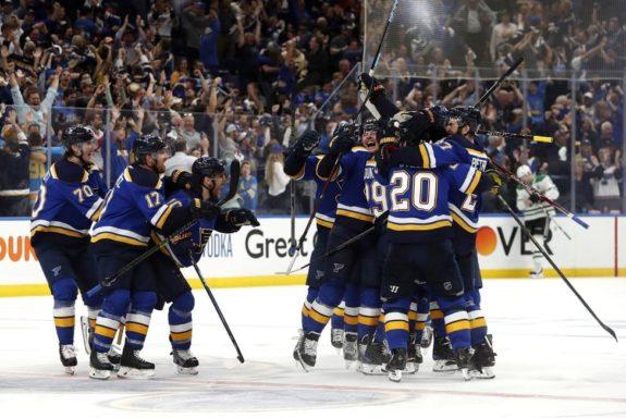 St. Louis Blues celebrate Game 7