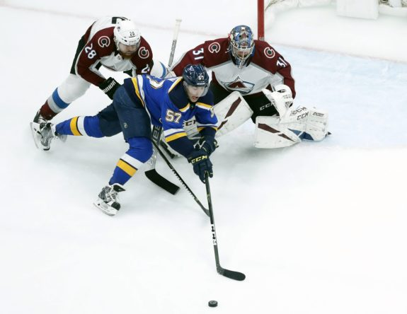 St. Louis Blues David Perron, Colorado Avalanche Philipp Grubauer Ian Cole
