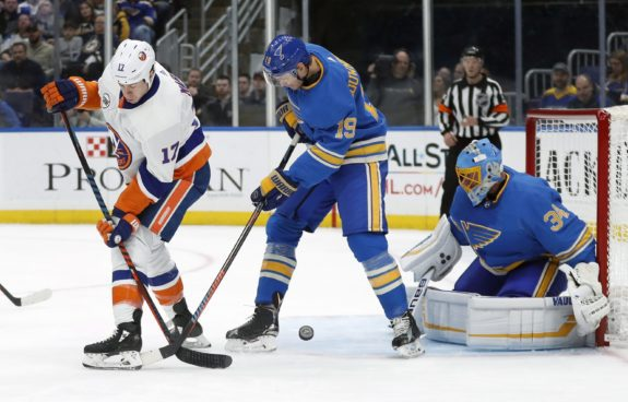 New York Islanders Matt Martin St. Louis Blues Jay Bouwmeester Jake Allen