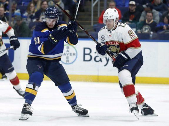 St. Louis Blues' Tyler Bozak Florida Panthers' Mark Pysyk