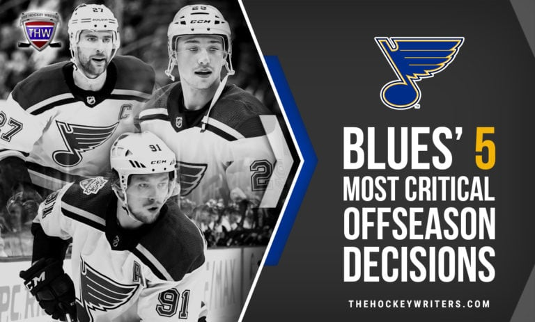 St. Louis Blues' 5 Most Critical Offseason Decisions Alex Pietrangelo, Jordan Binnington, Vince Dunn, Jaden Schwartz, and Vladimir Tarasenko