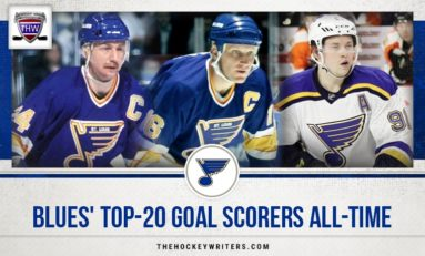 St. Louis Blues' Top 20 Goal Scorers All-Time