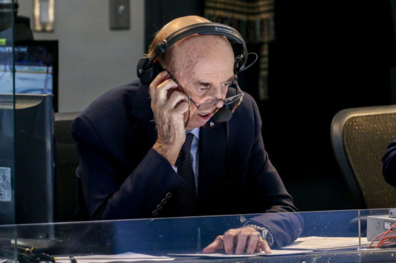 Hockey Night in Canada broadcaster Bob Cole