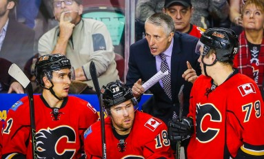 Flames Fire Head Coach Bob Hartley