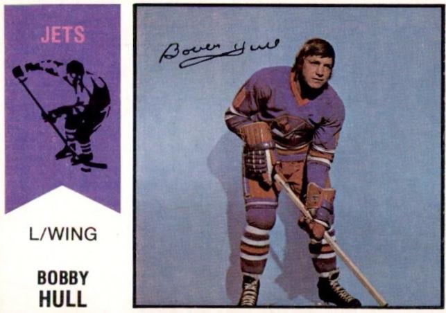 Bobby Hull Winnipeg Jets hockey card