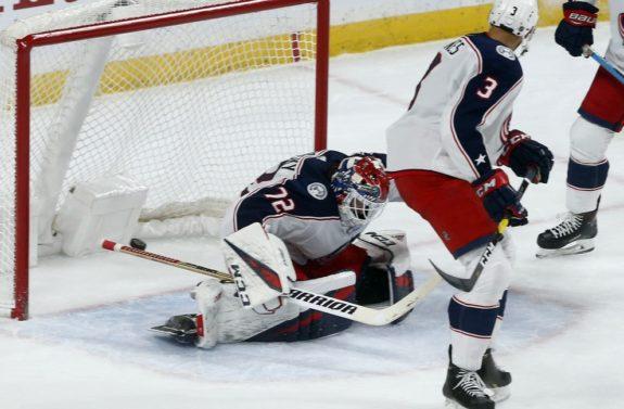 Columbus Blue Jackets' goalie Sergei Bobrovsky