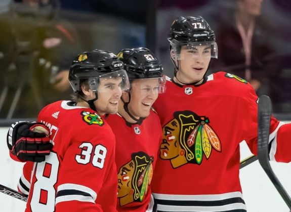 Chicago Blackhawks Adam Boqvist, Brandon Hagel Kirby Dach
