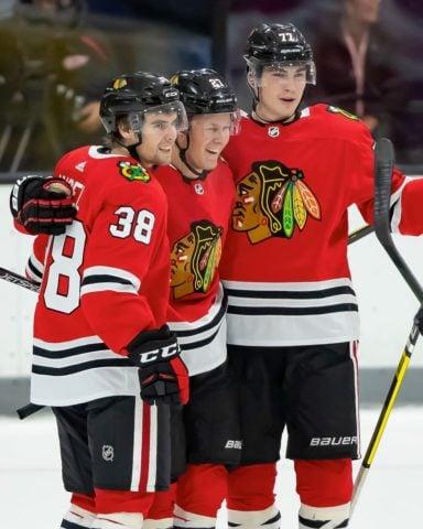 Chicago Blackhawks Adam Boqvist, Brandon Hagel Kirby Dach