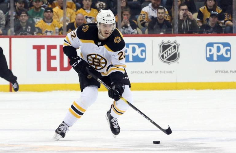 Boston Bruins left wing Peter Cehlarik