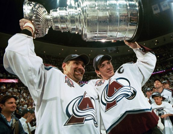 Ray Bourque Colorado Avalanche Joe Sakic