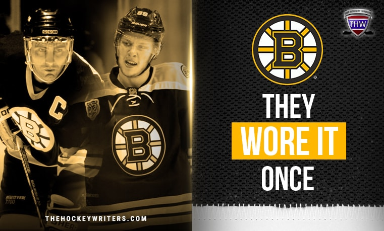 They Wore It Once Ray Bourque and David Pastrnak Boston Bruins