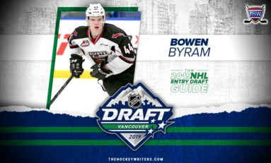 Avalanche Pick Bowen Byram #4 Overall