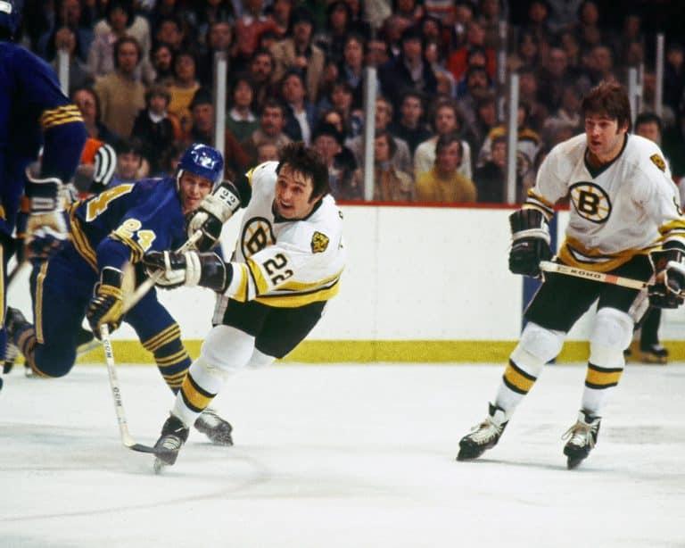 Brad Park #22 of the Boston Bruins