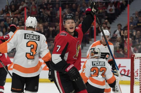 Senators left wing Brady Tkachuk