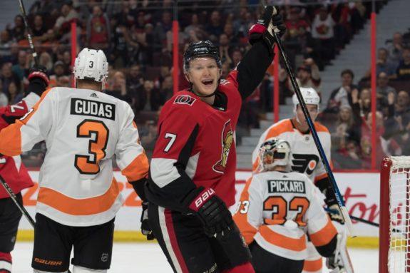 Ottawa Senators left wing Brady Tkachuk