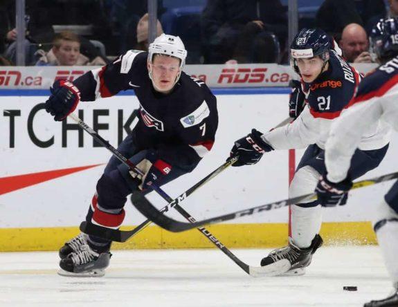 Brady Tkachuk USA Adam Ruzicka Slovakia