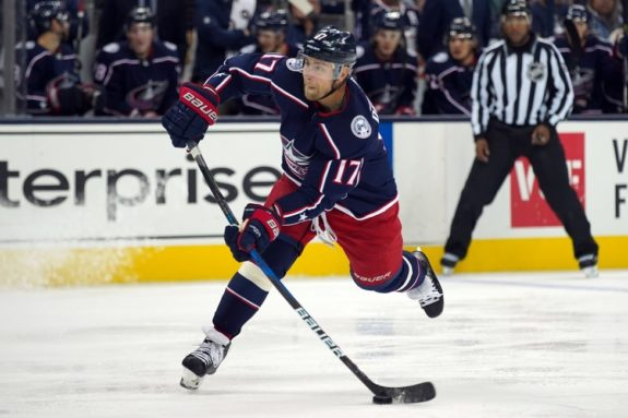 Blue Jackets center Brandon Dubinsky