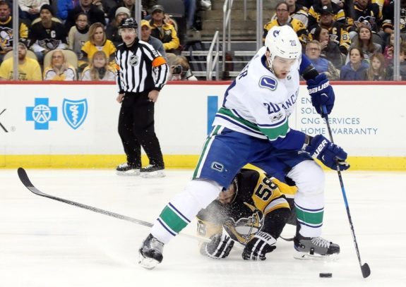 Canucks center Brandon Sutter