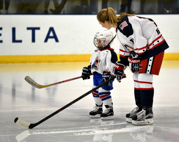 Bray Ketchum pregame before the final regular season New York Riveters game. (Photo Credit: Troy Parla)
