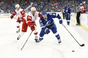 Point made his NHL debut against the Detroit Red Wings. (Kim Klement-USA TODAY Sports)