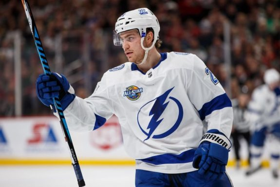 Lightning forward Brayden Point