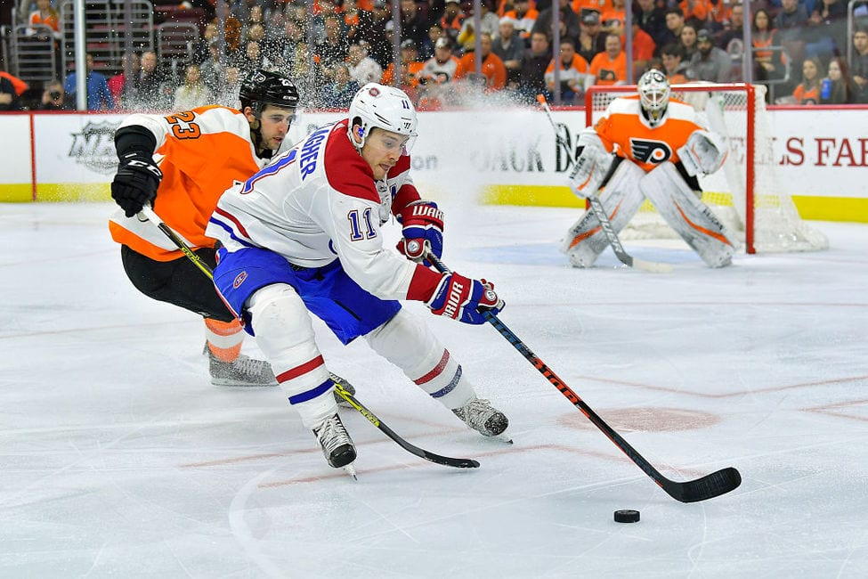Canadiens right wing Brendan Gallagher