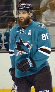 Brent Burns resembling Big Foot. (Zeke/THW)