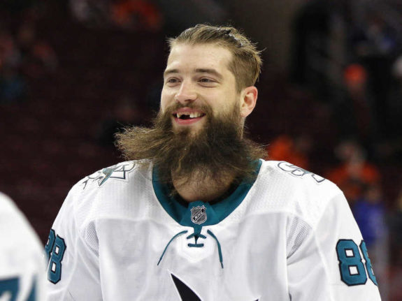Brent Burns of the San Jose Sharks.