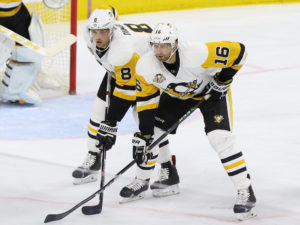 Eric Fehr and Brian Dumoulin (Amy Irvin / The Hockey Writers)