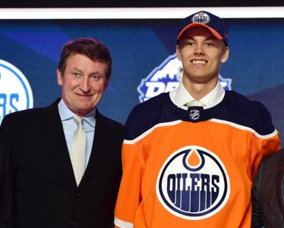 Edmonton Oilers draft Philip Broberg Wayne Gretzky