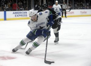 Vancouver Canucks right wing Brock Boeser
