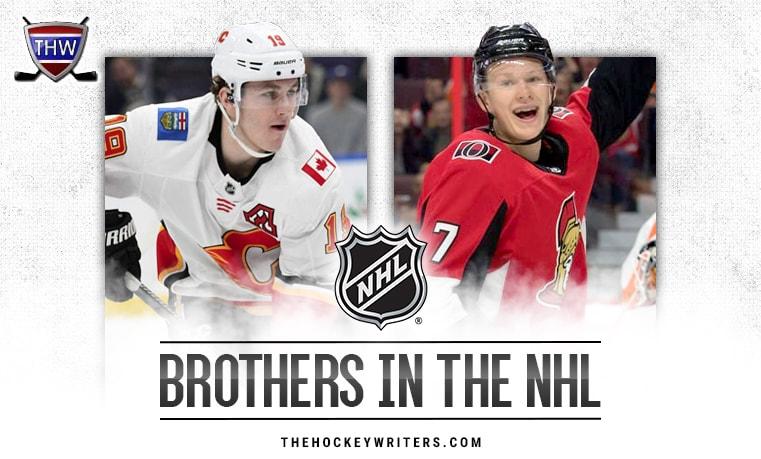 Brothers in the NHL Brady and Matthew Tkachuk