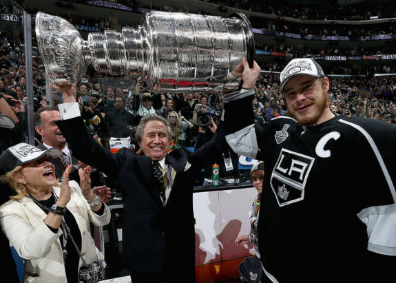 Dustin Brown Los Angeles Kings owner Philip Anschutz 2014 Stanley Cup