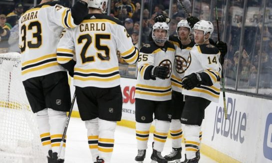 Bruins Pound Panthers - Clinch Playoff Berth 389290897