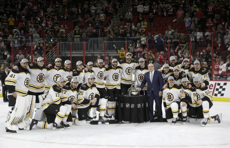 Boston Bruins Prince of Wales trophy 2019 Bill Daly