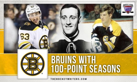 100 point seasons Boston Bruins Brad Marchand Phil Esposito Bobby Orr